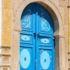 THE DOORS OF TUNISIASIDI BOU SAID. THE JASMINE VILLAGE