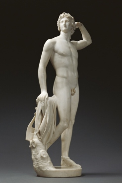 "Apollo che si incorona, 1781<BR>Marmo, 84,5 x 40 x 25<BR>Los Angeles, J Paul Getty Museum""><img src="