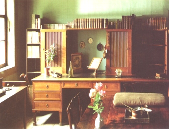"Goethe's Cabinet in the Dwelling<BR>House on Frauenplan""><img src="