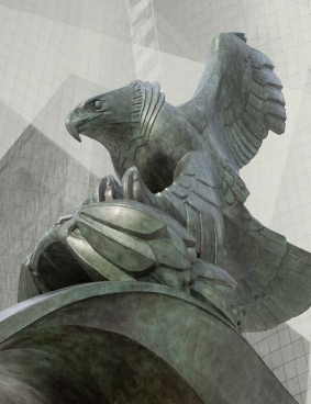 Diving Eagle, East Cost Memorial,<BR> Battery Park, Manhattan, New York, 1963″><img src=