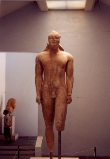 The huge statue of Kouros