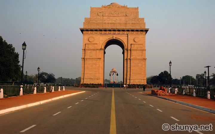 The India Gate a Nuova Delhi